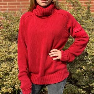 🌵Red Calvin Klein turtleneck knitted sweater 🌵
